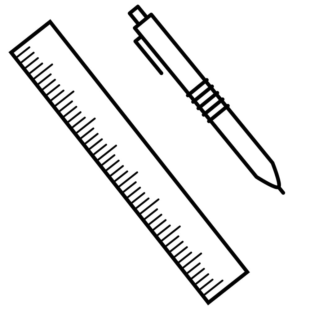pen and ruler